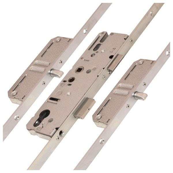 KFV AS4350 2 Round Bolt Centre Latch & Deadbolt