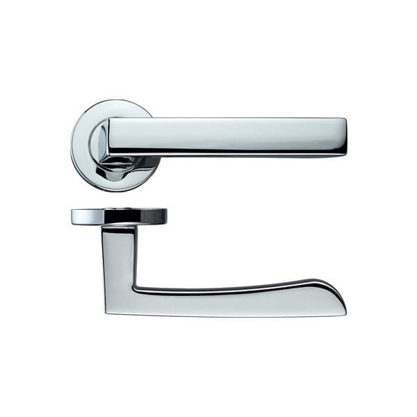 Rosso Maniglie Mensa Lever on Rose Internal Door Handle