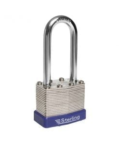 Sterling Laminated Steel Padlock long shackle
