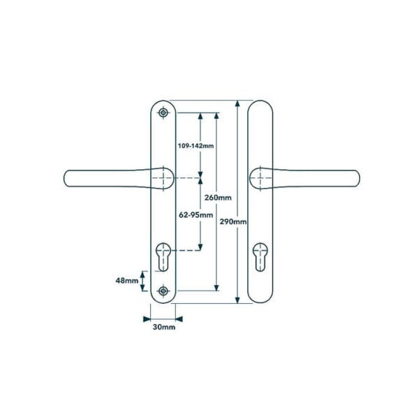 Flexi Upvc Door Handle Solid As A Lock Hardware