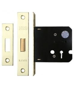 Zoo Hardware 3 Lever Contract Deadlock 3 inch