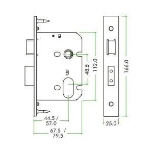 Zoo Hardware Oval Sashlock dimensions