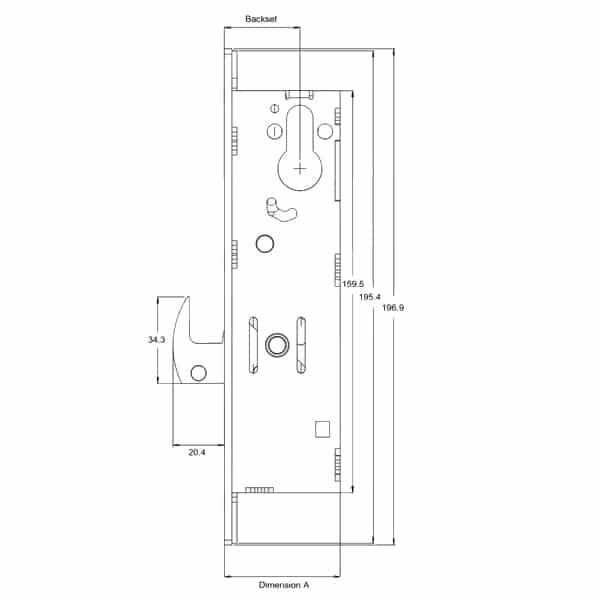 Alpro 5222 Hookbolt Replacement Gearbox