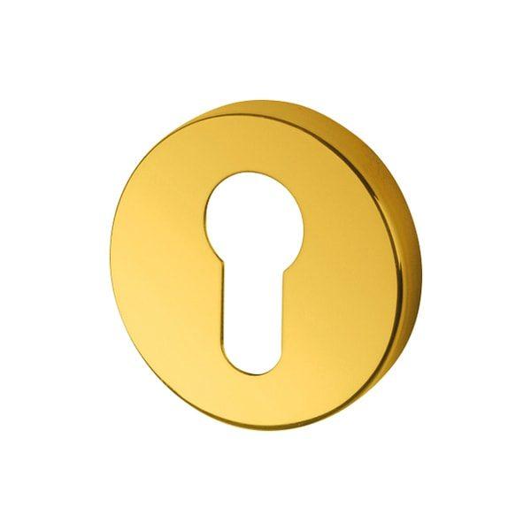 Hoppe Arrone Euro profile Escutcheon Brass