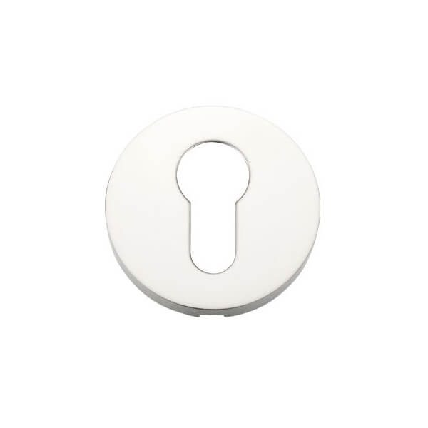 Zoo Hardware Euro Profile Escutcheon polished stainless