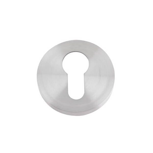 Zoo Hardware Euro Profile Escutcheon satin stainless