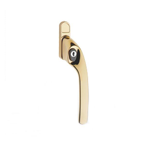 Greenteq Alpha Offset Window Handle Polished Gold