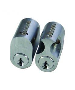 Asec Scandinavian External Internal Oval Cylinder satin chrome