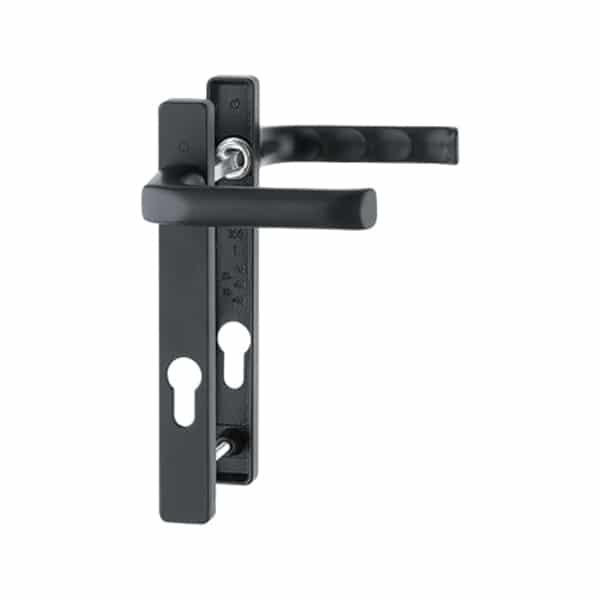Hoppe London 92mm Door Handle Short Backplate Black