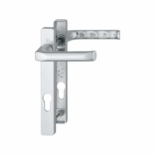 Hoppe London 92mm Door Handle Short Backplate Silver